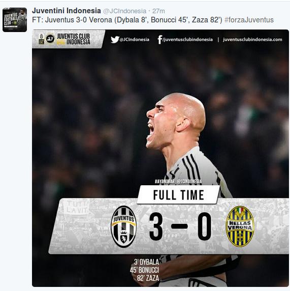 Kemenangan Perdana Bianconeri di2016